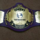 PURPLE WWF Classic Gold Winged Eagle Championship Belt Adult Size.2mm