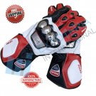 Ducati Motorbike Racing Gloves Original Leather Motorcycle Gloves Top Premium