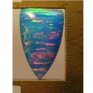Blue lab created opal cabochon, 25X16mm shield
