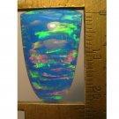 Blue lab created opal cabochon, 24X16mm tongue