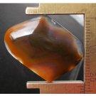 Agate cabochon, 27.5X23mm freeform