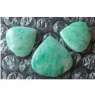 Amazonite cabochon set, freeform drop