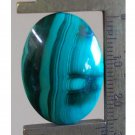 Malachite cabochon, 26.5X19mm oval
