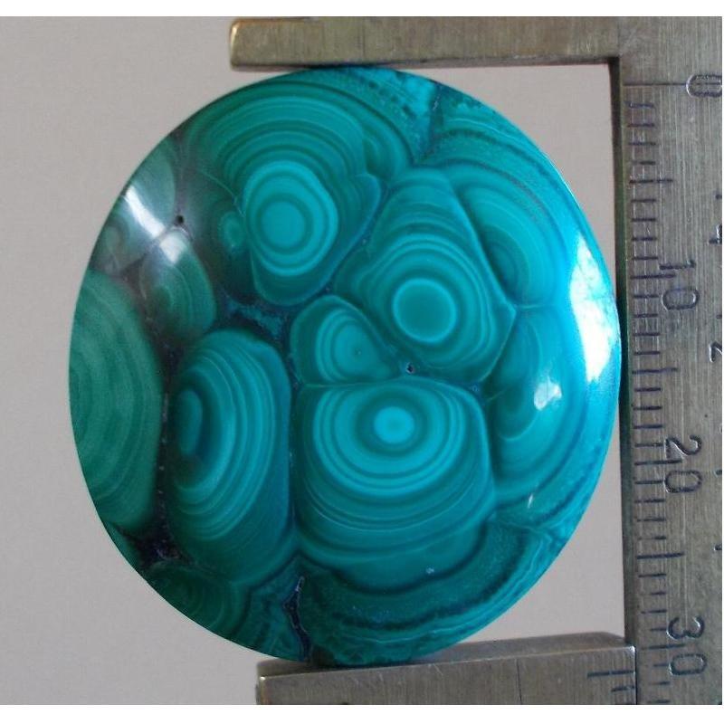 Malachite cabochon, 31X28.5mm oval