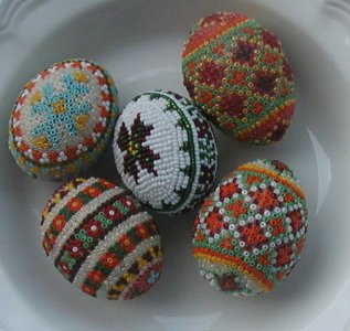"""Boyko"" Beaded Eggs"