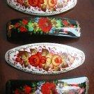 Hand-painted Wooden Barrettes