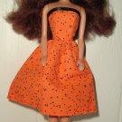 Barbie Doll Type Dress Orange Poke-a-dot