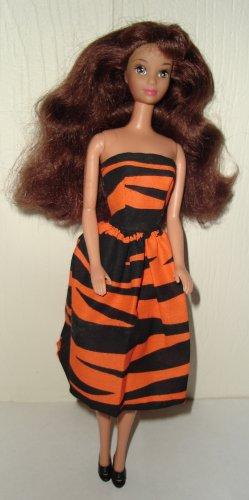 Barbie Doll Type Dress Tiger Pattern