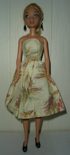 Barbie Doll Type Dress Harvest Wheat