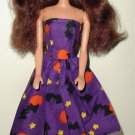 Barbie Doll Type Dress Halloween Purple Bats & Stars