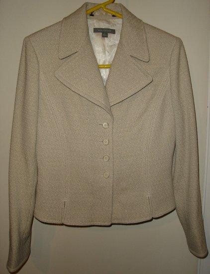 ANN TAYLOR Wool Tweed Blazer Jacket Fitted