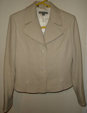 ANN TAYLOR Wool Tweed Blazer Jacket Fitted