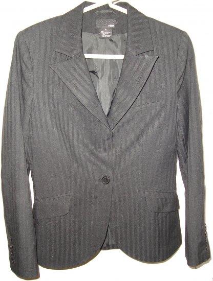 H&M Black Striped Jacket Blazer