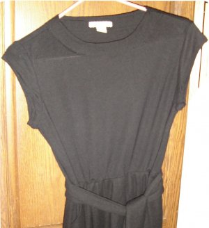 Forever 21 Black Dress Tie Waist