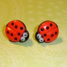 Goodluck Lady Bug Earrings