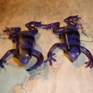 Purple Frog Earrings