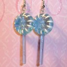 Berry Blue Lollipop Sucker Earrings