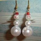 Holiday Snowman Earrings