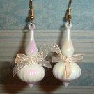 White Genie Bottle Earrings