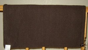 Mayatex Show Saddle Blanket Pad Chocolate Brown 36x34