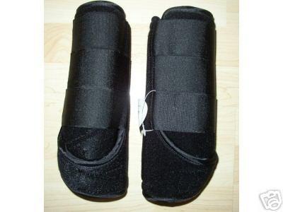 Black Sports Medicine Boots SMB XL Xlarge Horse Tack