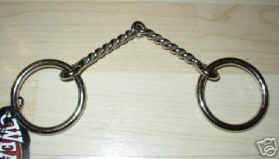 Weaver Twisted Wire Pony Snaffle Bit Stainless Mouth 4.5""