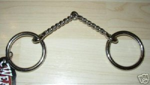 """Weaver Twisted Wire Pony Snaffle Bit Stainless Mouth 4.5"""""""