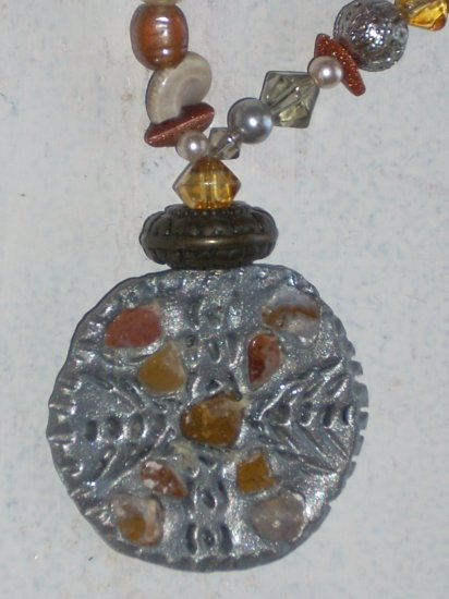 Filigree & semi precious stones Medallion