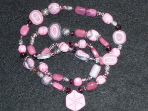 STOLEN AT A FESTIVAL (PLEASE REPORT IF YOU SEE IT) Real semi precious Pink/Purple Turquoise