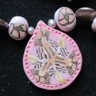 Pink Chocolate long Kaleidoscopic necklace..