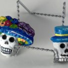 Day of the Dead Couple Blue