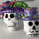 Day of the Dead Couple Purple