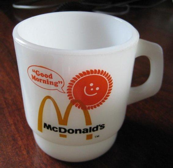 "1970s Anchor Hocking Fire King McDonald�s ""Good Morning"" Mug"