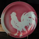 4 Sterling China Restaurant Ware 7-1/4-in Airbrushed Rooster Plates