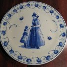 Limited Edition 1972 De Porceleyne Fles Royal Delft Holland Mother's Day Plate