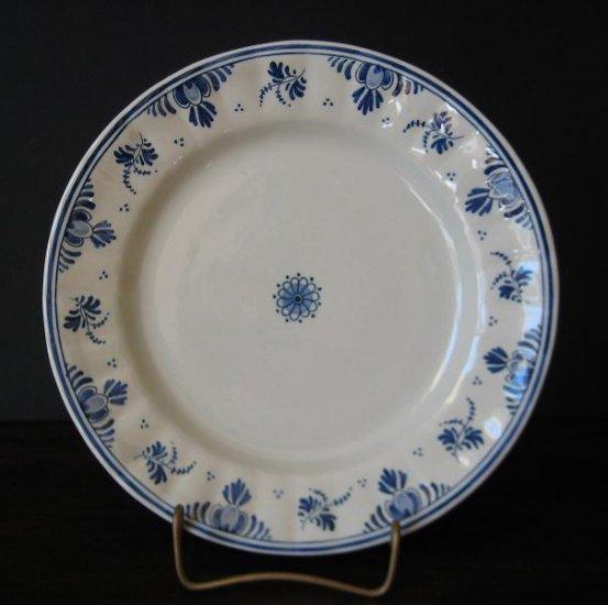 3 - Vintage Delft 9-in  Dinner Plates by N.V Plateelbakkerij Ram