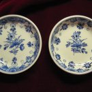 2 - Royal Delft De Porceleyne Fles Blue & White Small Dishes