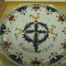 "10"" Porceleyne Fles Royal Delft 1973 Easter Wall Plate and Box"