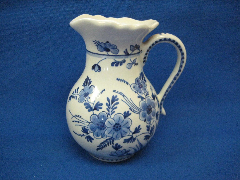De Porceleyne Fles Royal Delft Blue and White Flared Rim Pitcher