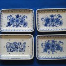 4 De Porceleyne Fles Royal Delft  Small Sweet Dishes