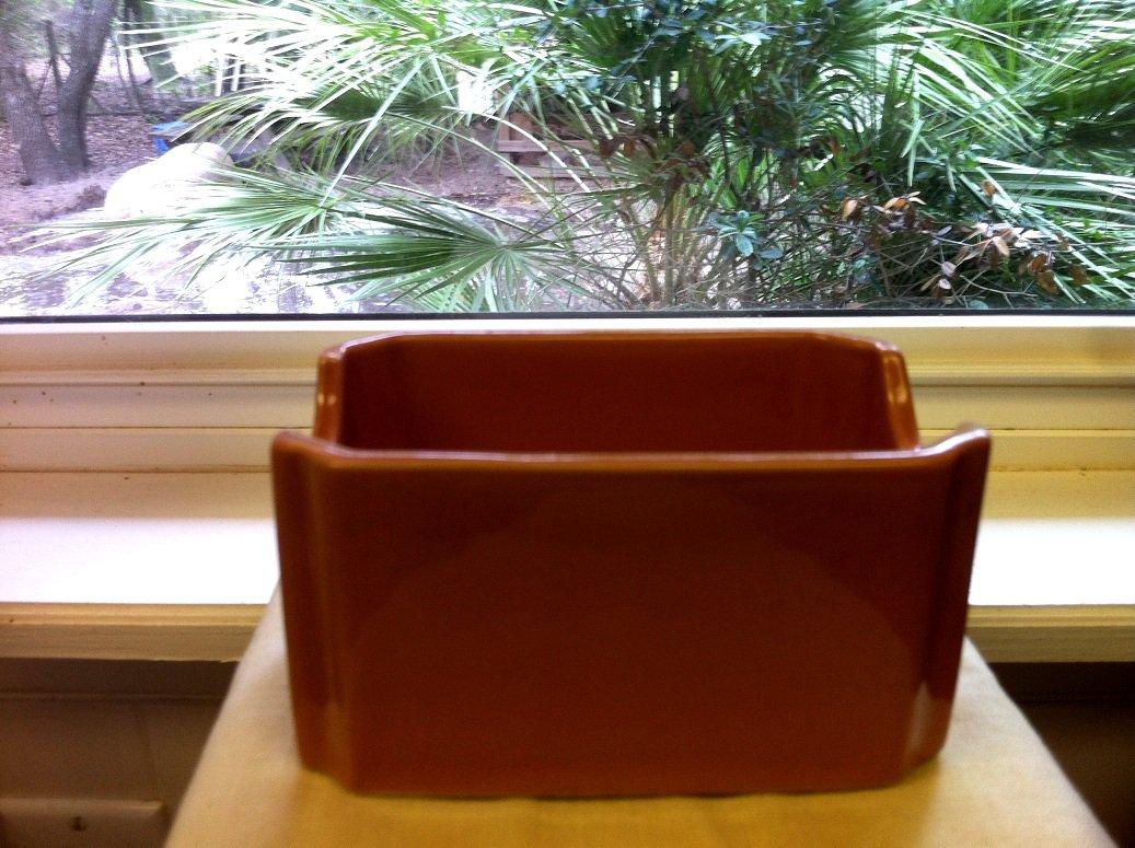 Hall China Sugar / Tea Caddy in Brown