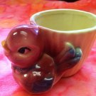 Vintage Shawnee USA 502 Red Bird, Yellow Pottery Planter