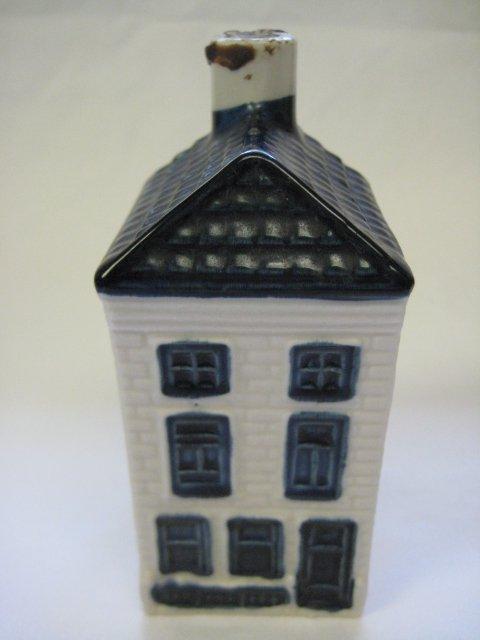 KLM Airlines Blue Delft Rynbende Miniature House Decanter #26