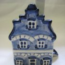"Hand Painted Delft House Ashtray for ""Au Bon Gout"" Cafe by Velsen Pottery"