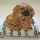 Vintage Basil Matthews England Brown Pekingese Dog Figurine