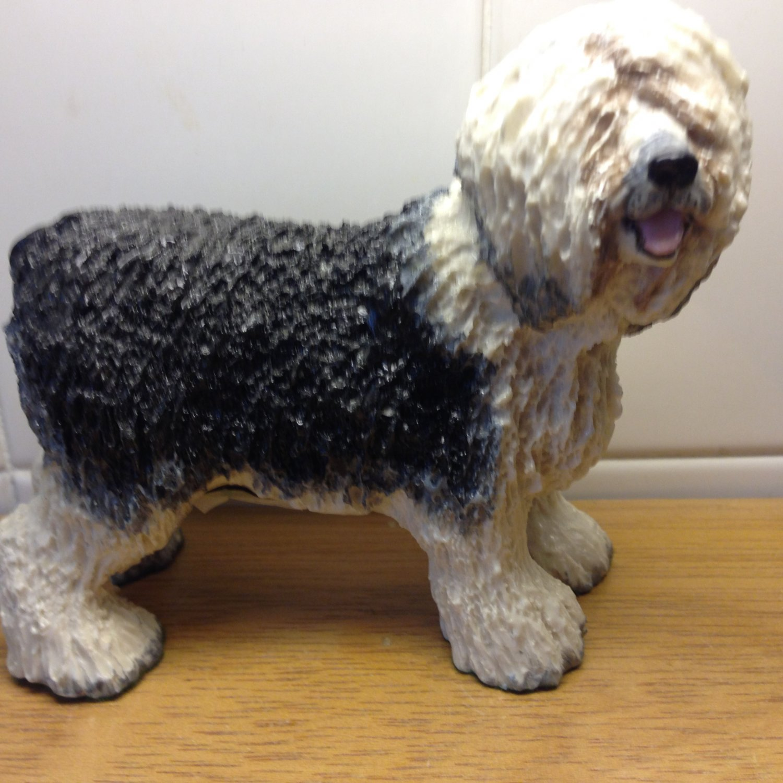 Vintage Basil Matthews England Figurine Old English Sheepdog