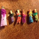 Six Guatemalan Worry Dolls in Original Box