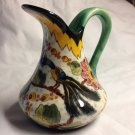 Regina Gouda fully marked 1930's Pitcher with Pheasant