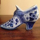 1954 Royal Delft De Porceleyne Fles Dutch Blue and White Heeled Boot Shoe