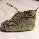 Porcelain Cloisonne Enamel Baby Shoe Ornament